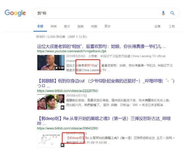 搜索引擎高级搜索指令使用技巧之星号